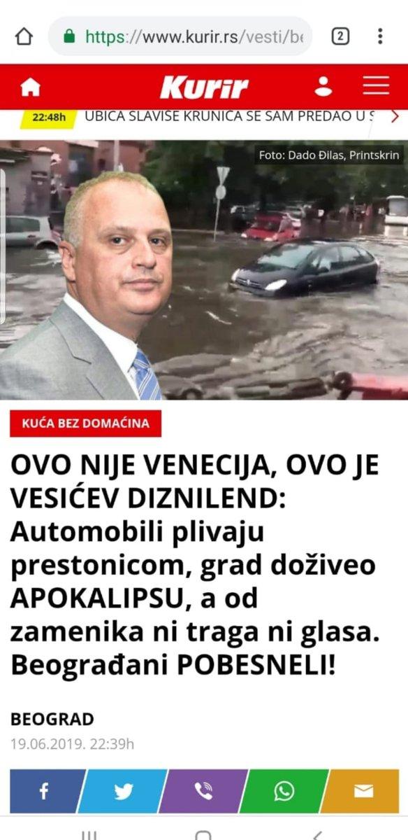 """""""Ово није Венеција, већ Весићев Дизниленд"""" – текст који је Курир објавио, па одмах повукао са свог портала 2"""