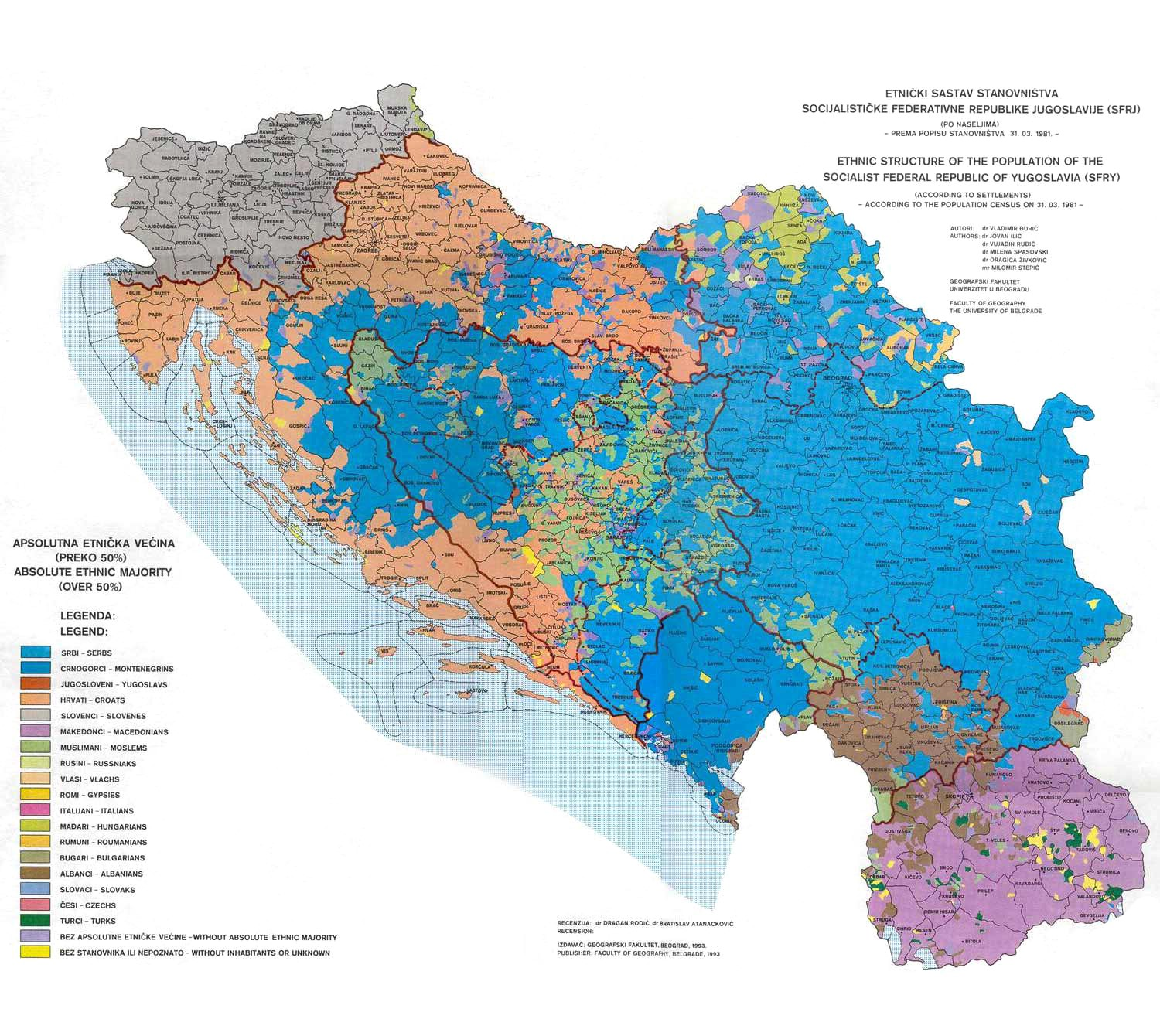 mapa jugoslavije Dysfunction in the Balkans   Can the Post Yugoslav Settlement  mapa jugoslavije