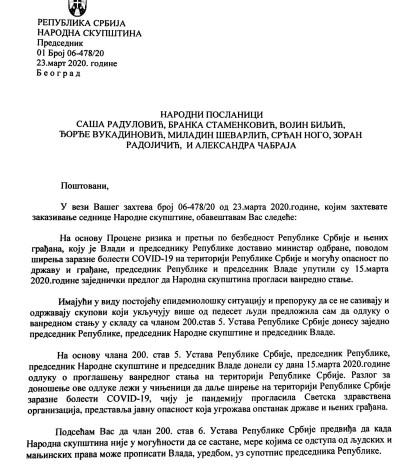 ДЈБ: Маја Гојковић признала да је прекршен Устав и слагала посланике да би прикрила Вучићеву одговорност