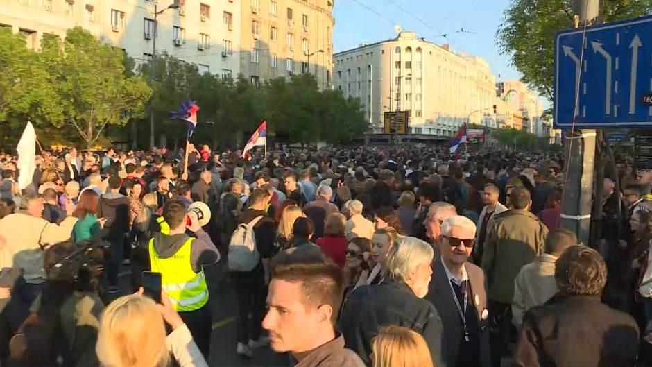 """Београд: У току протест """"Један од пет милиона"""" и шетња до РТС 4"""