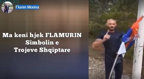 Лепосавић: Двојица Албанаца скинула српску заставу, један од њих ју је затим изгазио