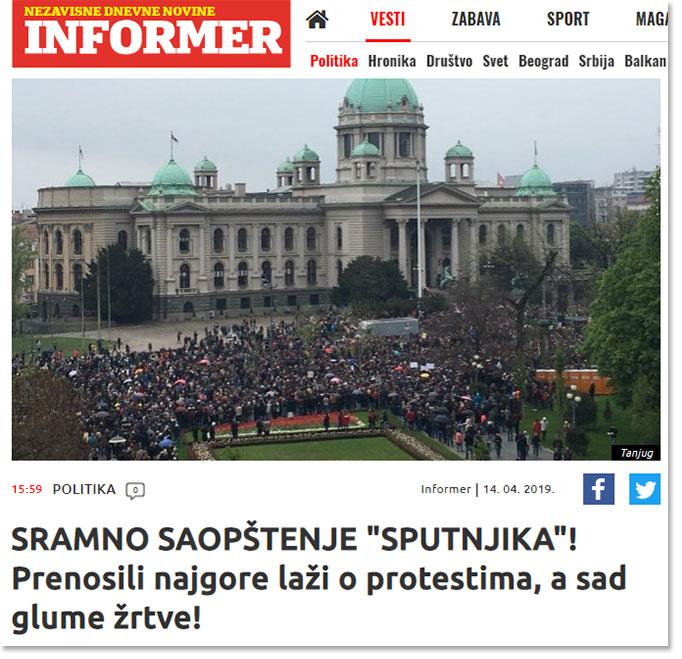 Вучић лансирао БРУТАЛАН НАПАД на руске медије у Србији! 2