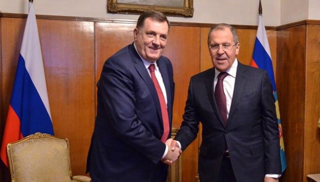 Милорад Додик и Сергеј Лавров: Русија забринута због покушаја рушења Дејтонског споразума