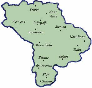 sjenica mapa srbije Republika Srpska i