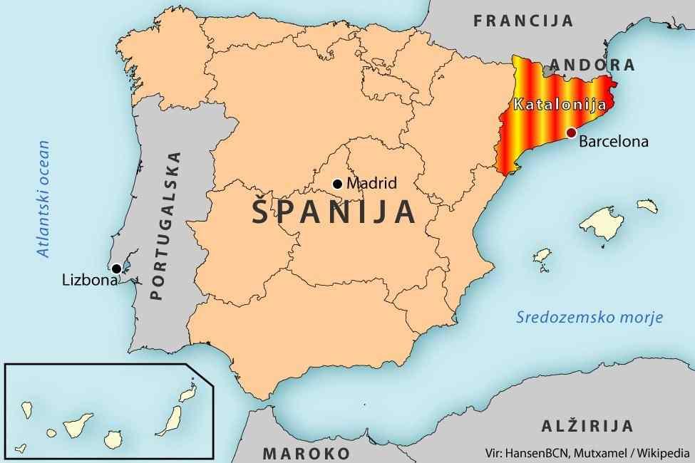 katalonija mapa Španski i svetski mediji različito o rezultatima izbora u  katalonija mapa