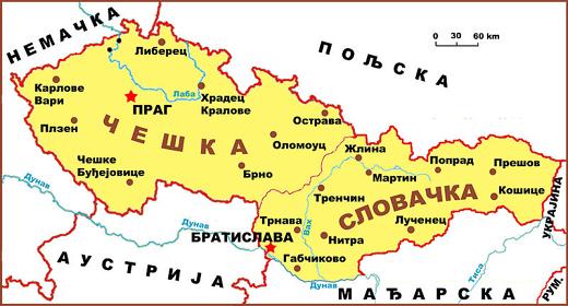 mapa slovačke Grupa slovačkih i čeških građana pokrenula inicijativu o  mapa slovačke