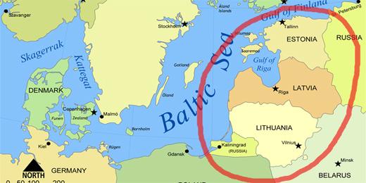 litvanija mapa Ministri odbrane Estonije, Letonije i Litvanije: Razmišljamo o  litvanija mapa