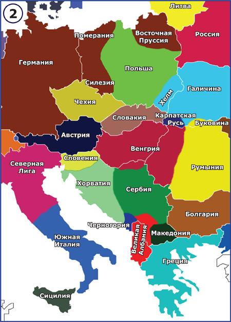 karta centralne evrope Na osnovu dokumenata CIA i ruske službe GRU, ruski eksperti  karta centralne evrope