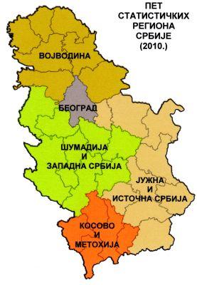 karta srbije regioni Regionalizacija bez dezintegracije | Politički život karta srbije regioni