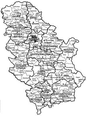 Karta Srbije Sa Gradovima Selima Superjoden