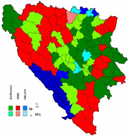 Etnicke Mape Bih 2009 Distrikta Brcko 2009 I Promena U Bih 1971
