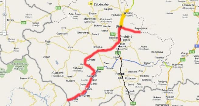 pruga beograd bar mapa Zorana Mihajlović: Srbija i Albanija grade autoput Niš Priština  pruga beograd bar mapa