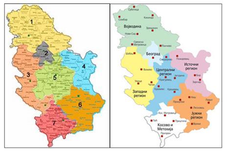 Karta Srbije Regioni Superjoden